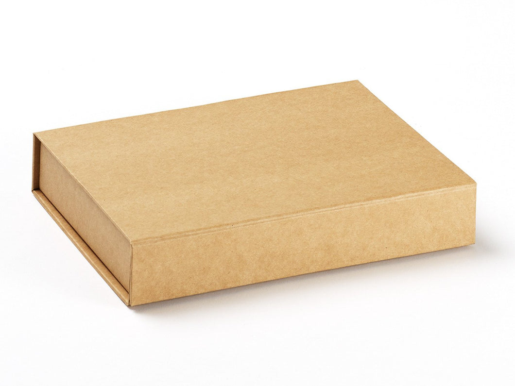 A4 Shallow Luxury Natural Kraft Gift box