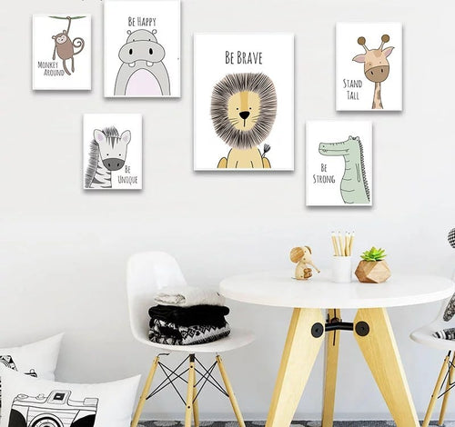 Animal Bedroom/Nursery Prints - The Monkey Box