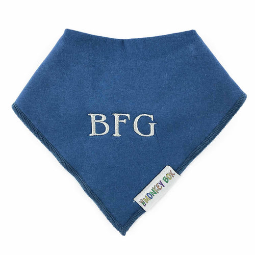 Personalised Plain Colour Dribble Bibs (28 Colours)