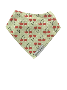 Cherries Dribble Bib