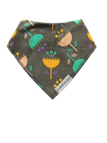 Cocktail Flowers Dribble Bib - The Monkey Box
