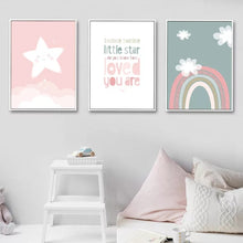 Load image into Gallery viewer, Star, Rainbow and Quote Prints