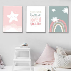 Star, Rainbow and Quote Prints