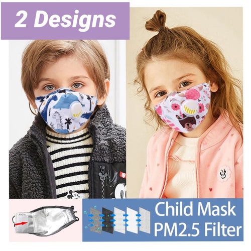 Children's Patterned Face Masks (2 Designs)