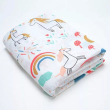 Load image into Gallery viewer, Unicorns and Rainbows Muslin Set