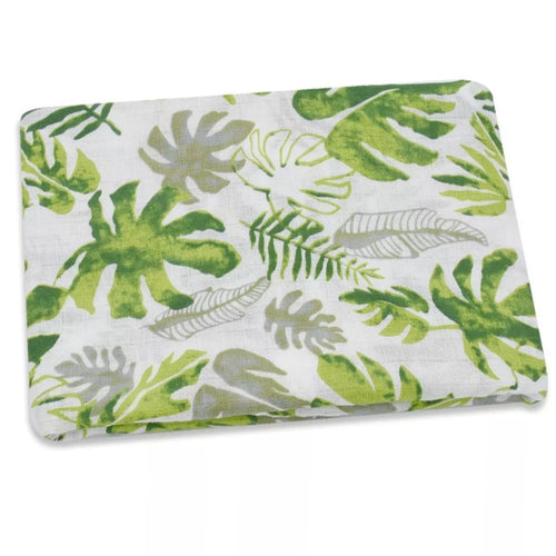 Leafy Muslin Swaddle and Muslin Cloth - The Monkey Box