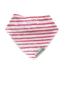 Coral Stripe Dribble Bib
