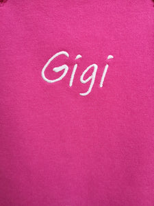 Cerise Pink Fleece Dungarees Plain and Personalised