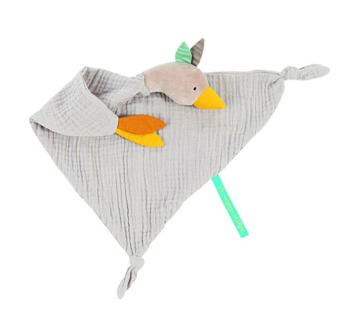Moulin Roty Goose Muslin Comforter Le voyage d'Olga - The Monkey Box
