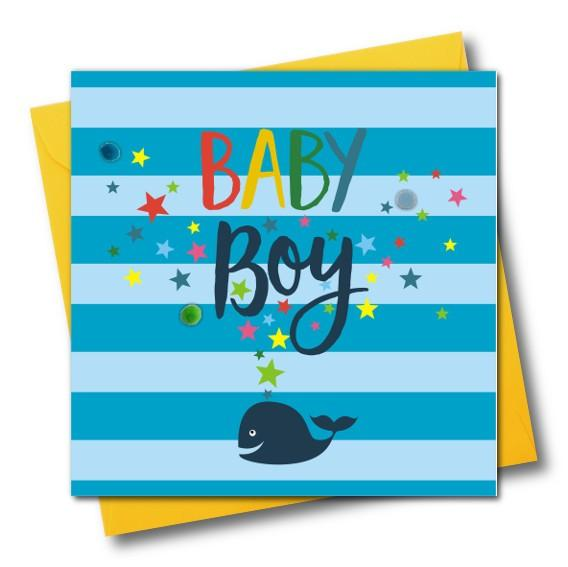 Baby Boy Greeting Card - The Monkey Box