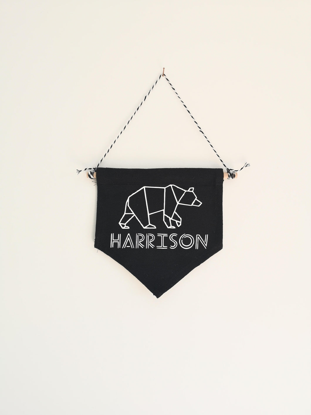 Personalised Pennant Bedroom Decoration - The Monkey Box