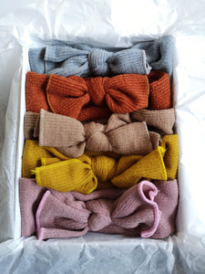Knitted Bow Headbands (5 Colours) - The Monkey Box