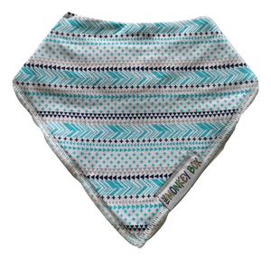 Turquoise, Navy and Grey Dribble Bib