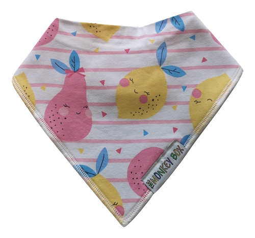 Happy Lemons and Pears Dribble Bib