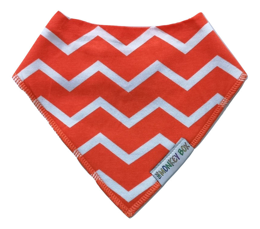 Orange Zig Zags Dribble Bib