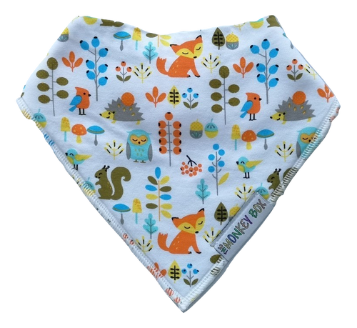 Animal Friends Dribble Bib - The Monkey Box