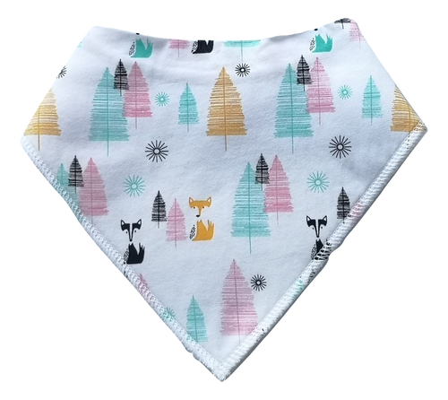 Frosty Fox Forrest Dribble Bib