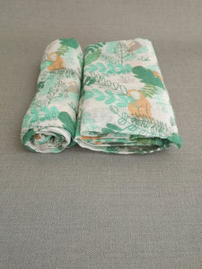 Rainforest Animals Muslin Set