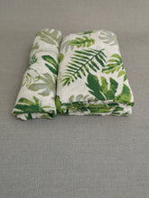 Load image into Gallery viewer, Leafy Muslin Swaddle and muslin cloth - The Monkey Box