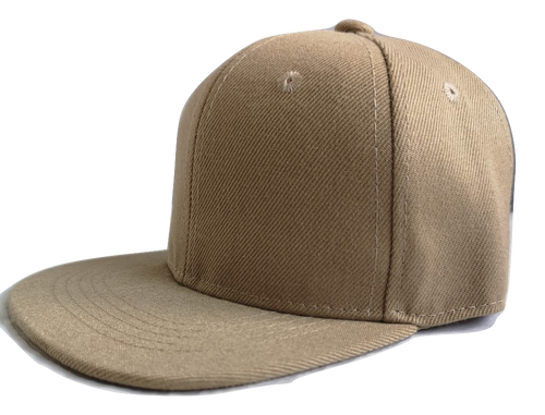 Khaki childrens personalised snapback - The Monkey Box