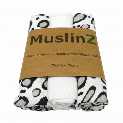 Leopard Print Musin Cloths - The Monkey Box