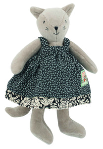 Moulin Roty Agathe the cat La Grande famille Small soft toy - The Monkey Box