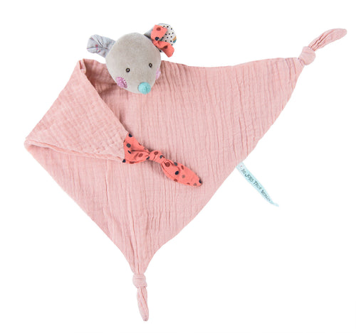 Moulin Roty Mouse muslin comforter Jolis Trop Beaux - The Monkey Box