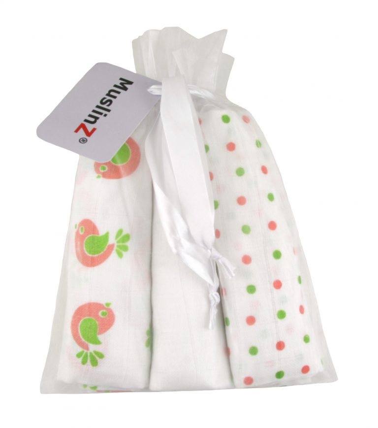 MuslinZ 3 Pack Gift set of Muslin Squares - The Monkey Box