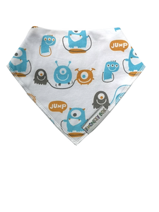 Skipping Monsters Dribble Bib