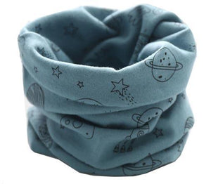 Teal Space Rocket Snood