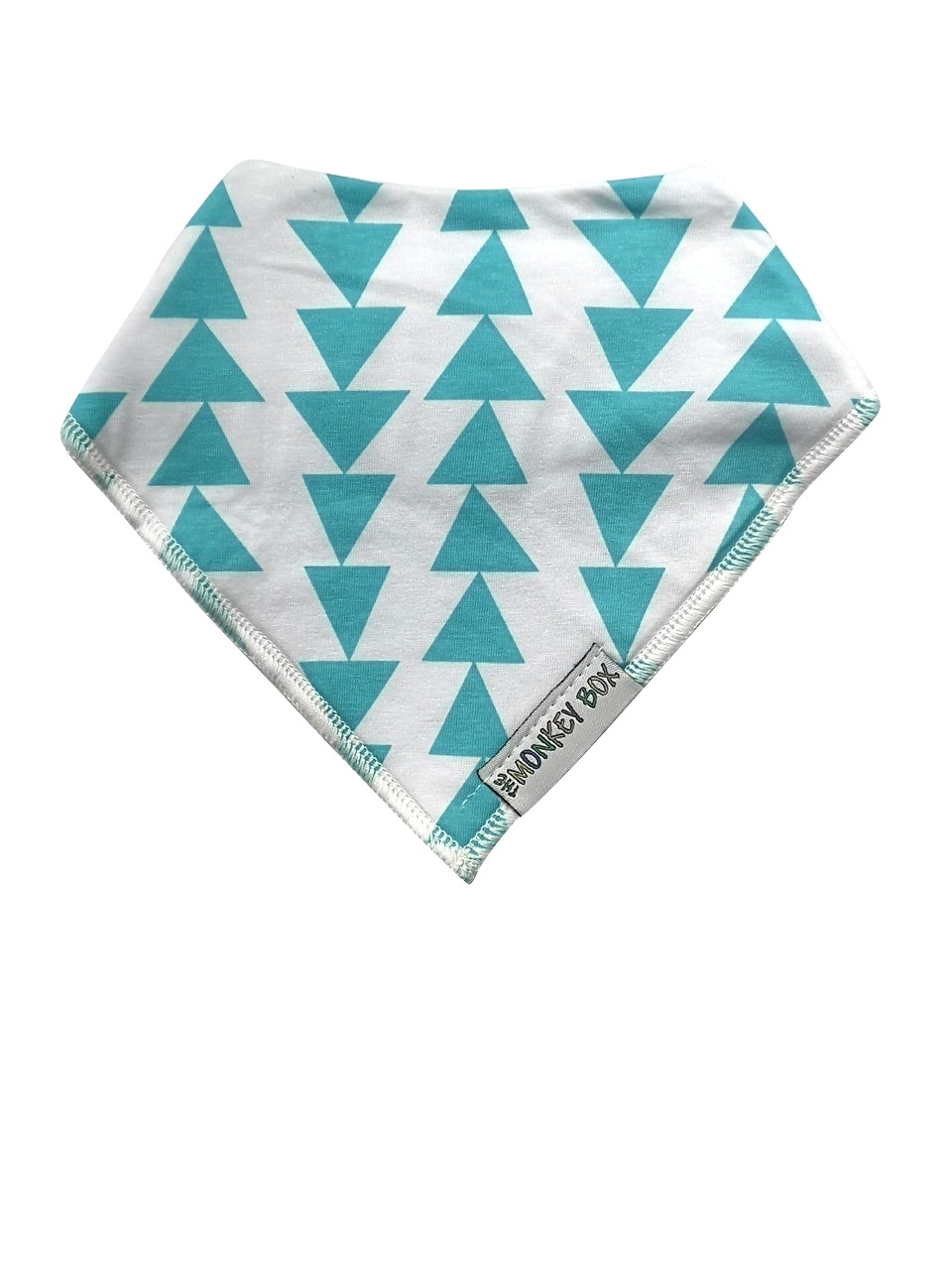 Turquoise Triangles Dribble Bib