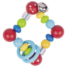 Load image into Gallery viewer, Heimess Touch Ring - Square Red Polka Dot Bead - The Monkey Box