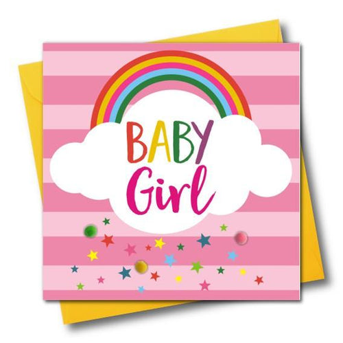 Baby Girl Greeting Card - The Monkey Box