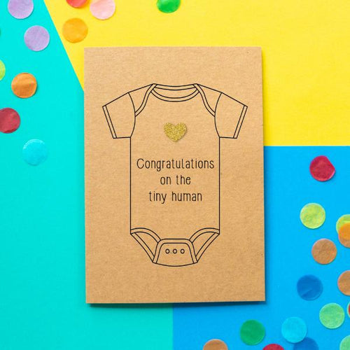 Tiny Human Greeting Card - The Monkey Box