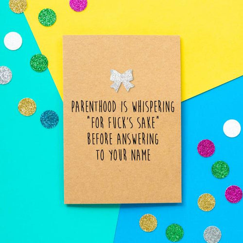 Parenting FFS Greeting Card - The Monkey Box