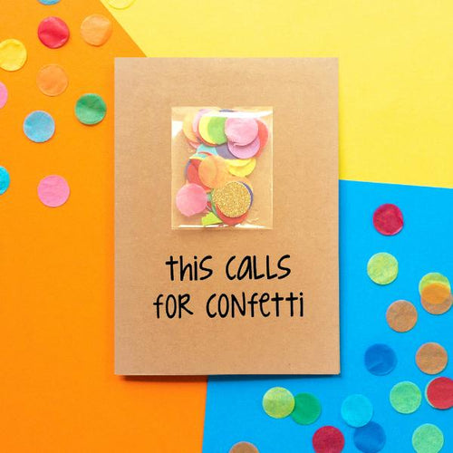 Calls For Confetti Greeting Card - The Monkey Box