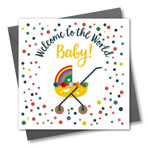 Welcome to the World Greeting Card - The Monkey Box