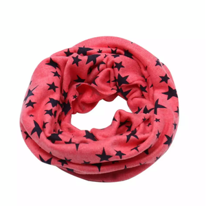 Coral with Navy Stars Snood