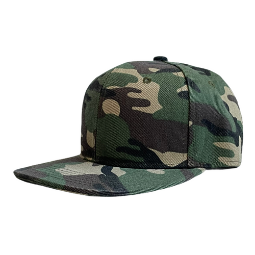 Green Camo Infant Snapback - Personalised and Plain