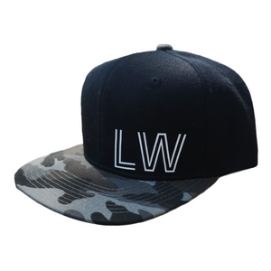 Charcoal Camo/Black Infant Snapback - Plain and Personalised