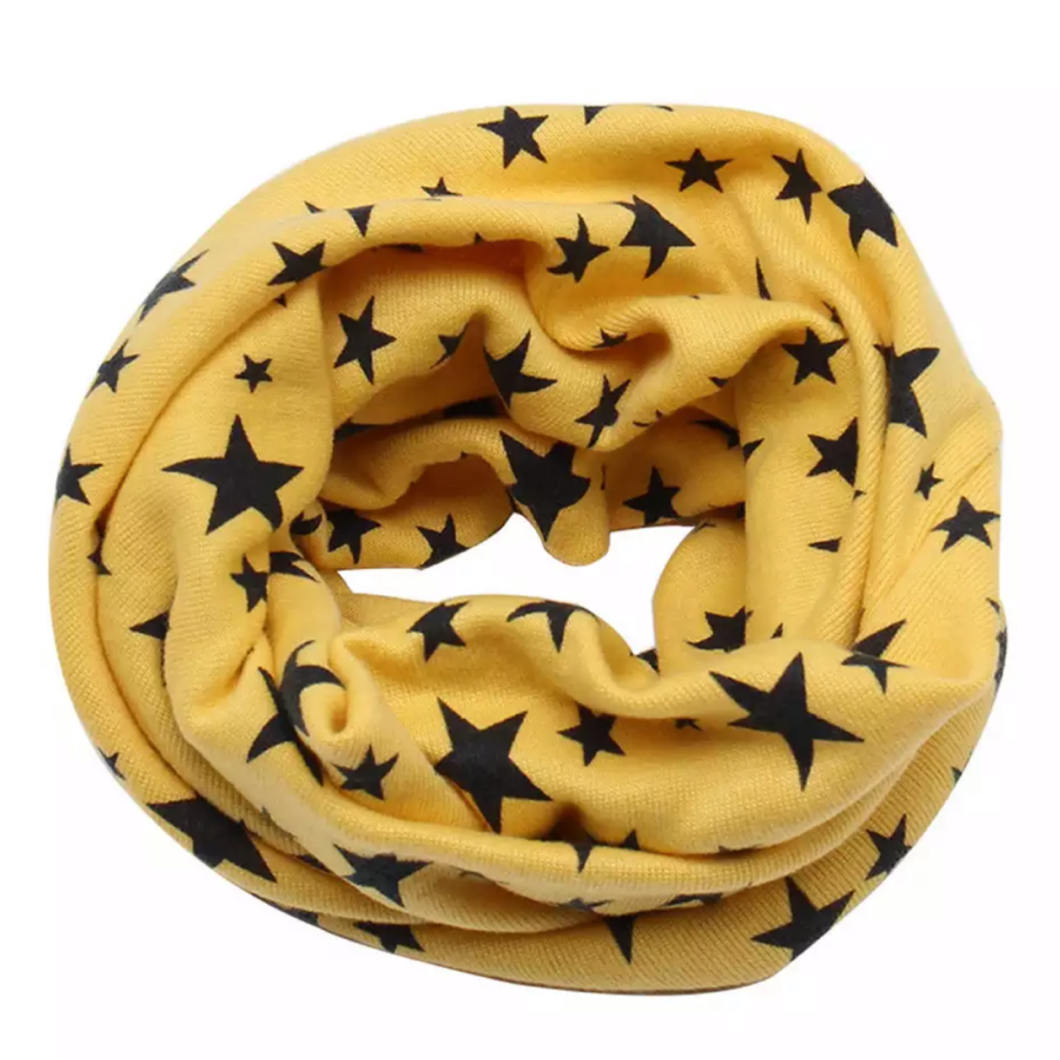 Yellow with Navy Stars Snood