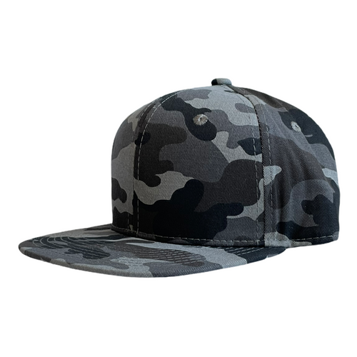 Charcoal Camo Junior Snapback - Plain and Personalised