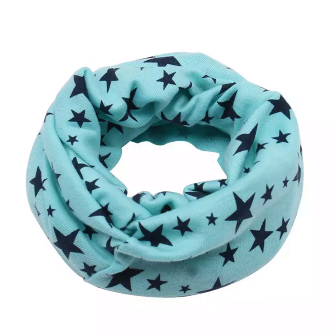 Spearmint with Navy Stars Snood