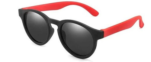 kids sunglasses black red side