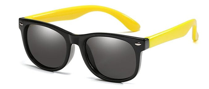 kids sunglasses black yellow side