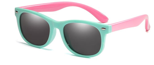 kids sunglasses mint pink front