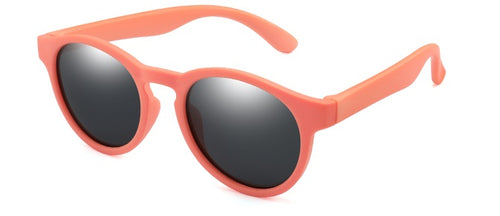 Kids Retro Sunglasses - Pinky Orange