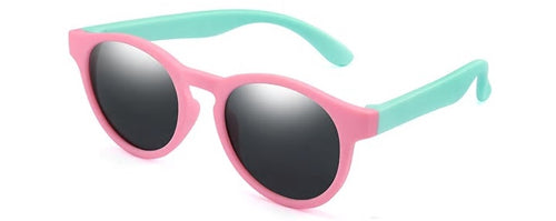kids sunglasses pink mint side