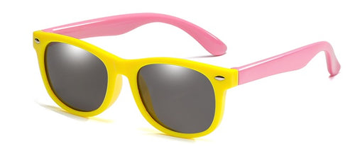 kids sunglasses yellow pink side