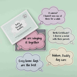 Bearsy and The Boy Baby Thought Bubble Milestone Cards - The Monkey Box